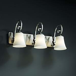 Justice Design Group FSN-8573-50-DROP-NCKL 融合系列 Victoria 3 灯浴杆