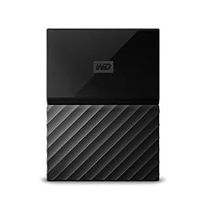 Western Digital 西部数据 4TB黑色My Passport便携式外置硬盘 - USB 3.0 - WDBYFT0040BBK-WESN