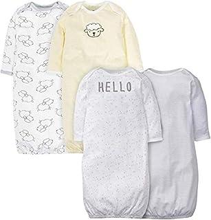 Gerber 嘉宝 婴儿 4 件装长袍,绵羊,0-6 个月