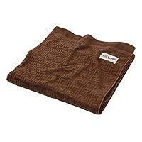 Nishikawa 西川 西川家居用品 毛巾毯 印度产 无农药 棉制 PO-11 棕色 約180×190cm 2033-71174