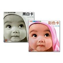 阳光宝贝0-18个月初生婴儿视觉激发卡黑白卡彩色卡(共2册)