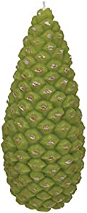 Fantastic Craft Pinecone Candle, 8.5-Inch, Green