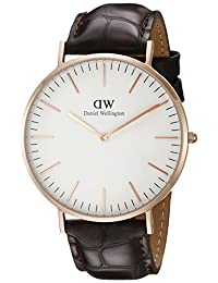 Daniel Wellington 丹尼尔·惠灵顿 棕色皮带超薄男士石英手表 DW00100011