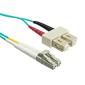 eDragon ED85900 万兆水光纤电缆,LC/LC,多模式,双工,50/125,4mED87805 LC/SC, Multimode, Duplex, 50/125 2 Meter (3 Pack)