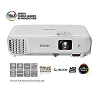 Epson 爱普生 EB-W05 3LCD,高清,3300流明,300英寸显示屏,WXGA投影仪——白色