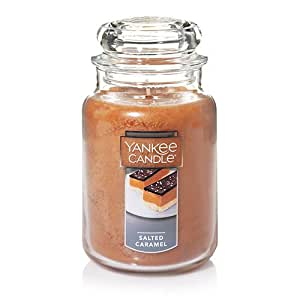 Yankee Candle 22-Ounce Jar Candle, Large, Salted Caramel