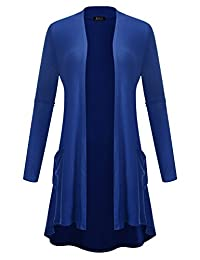 BILY 女式前开式轻质针织经典长袖开衫