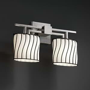 Justice Design Group WGL-8702-30-GROP-DBRZ 金属玻璃系列 Aero 2 灯浴杆