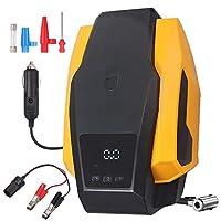 AUTOUTLET 数字轮胎充气器便携式汽车空气压缩机,带自动泵/关闭功能/电池夹