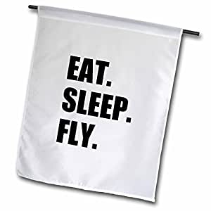 """inspirationzstore EAT Sleep 系列–EAT Sleep FLY–趣味 GIFTS for PILOTS 飞行人员和 frequent FLYERS–旗帜 18"""" x 27"""""""