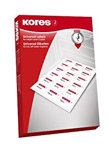 Kores 通用标签,99.1 x 139毫米,100张,白色