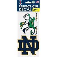Notre Dame Fighting Irish 自动贴纸 2 件装 - 10.16 cm x 10.16 cm