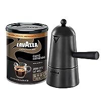 Lavazza Carmencita 礼品包,炉灶浓缩咖啡机和咖啡咖啡咖啡 226.8 克。 锡罐