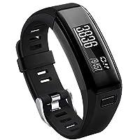 NAHAI 兼容 Garmin Vivosmart HR 替换腕带,软硅胶运动腕带配件,适用于 Garmin Vivosmart HR 智能手表(无追踪器)