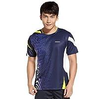 Kawasaki 川崎 女士 运动T恤短袖t恤 吸湿排汗羽毛球服16163 16263 (宝蓝, XL)