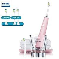 PHILIPS 飞利浦钻石亮白型 声波粉钻电动牙刷 HX9362(自带刷头*2+充电旅行盒+充电玻璃杯)