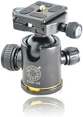 Morjava 轻装时代 Q02单反相机三脚架球形云台 万向液压微锁阻尼标杆云台