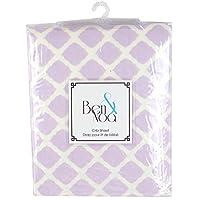 Kushies Baby Ben & Noa 婴儿床床单法兰绒,紫丁香格子
