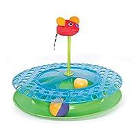 Petstages 奶酪猫玩具轨道,带 2 个球和猫薄荷鼠标玩具