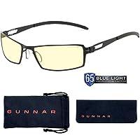 Gunnar 游戲眼鏡| 防藍光眼鏡| Shenardog /Onyx |65%的藍光保護,紫外線保護,抗反射以保護和減少眼部疲勞和干燥