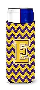 字母 D V 形图案紫色和金色高男孩饮料绝缘器 Hugger CJ1041-DTBC