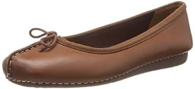 Clarks freckle 冰,女式封闭 Brown (Dark Tan Lea) 9 UK