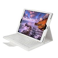 ikodoo爱酷多 无线键盘 适合苹果iPad / iPad2 / new iPad3 / iPad4 9.7英寸平板电脑 无线蓝牙键盘 保护套 仿牛皮支架式皮套 剪角按键机械键盘 蓝牙3.0无线距离10米 (ipad1/2/3/4代 9.7英寸, 白色)
