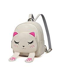 DIOMO 女式儿童背包 女童 挎包 卡通 书包 猫手提包 旅行背包