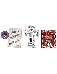 确认赞助商礼品套装 | 确认赞助别针与卡片、赞助商十字架、翻领别针和鸽子设计 | 共 3 件