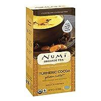 Numi Organic Tea Golden Latte, Turmeric Cocoa, 24 Count