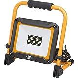 Brennenstuhl Mobiler LED 建筑射灯 JARO 5000 M (适用于室外 IP65, 带5米线, 50W, 带快速夹紧) 黑色/黄色