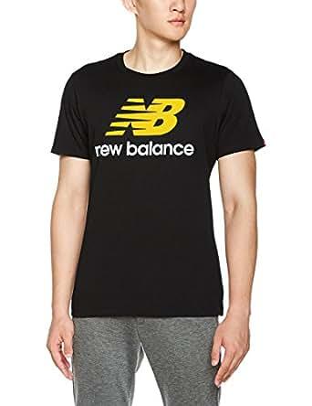 New Balance 男式 运动T恤 AMT73587-BK-L 黑色 L-175/96A