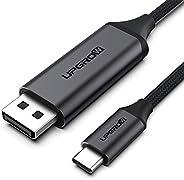 UPGROW USB C 至 DisplayPort 电缆 4K@60Hz 6FT 适用于家庭办公 USB C 至 DP线,兼容 MacBook Pro/Air,iPad Pro 带 USB-C端口笔记本电脑/手机