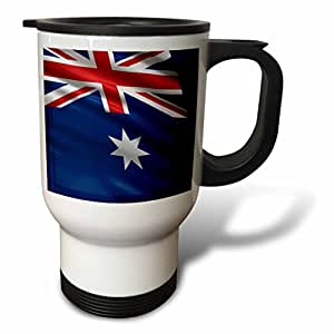 3dRose tm_178796_1 Flag of Australia Waving in The Wind Travel Mug, 14-Ounce, Stainless Steel