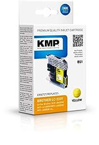 KMP 墨盒用于 Brother DCP-J4120DW / MFC-J4420DW, B51,黄色
