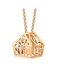 周生生 18K红色黄金Love Decode爱情密语浪漫的花样钻石项链47厘米89737n定价(亚马逊自营商品, 由供应商配送)