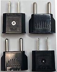 [PINEeTREE] 全球旅行电源插头墙壁适配器和转换器 110V 至 220V 或 220V 至 110V 旅行电源适配器(美国至欧盟或欧盟至美国)4 件装