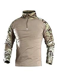 CARWORNIC 男式突击军事战术战术战衬衫长袖户外* T 恤