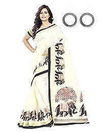 Jaanvi 时尚 Khadi 丝绸大象图案 Kalamkari 印花纱丽服