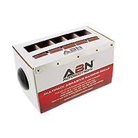 ABN - 磨料纸 5 件沙纸多件包装带分配器 - 150、240、320、400、600 粒氧化铝砂纸