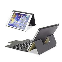 ikodoo爱酷多 无线键盘 适合苹果iPad Pro 10.5英寸平板电脑 无线蓝牙键盘 保护套 纤薄轻盈型一体皮套 剪角按键机械键盘 蓝牙3.0无线距离10米 (ipad pro 10.5英寸, 纤薄型 土豪金)