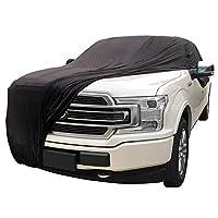 WinPower 车罩天鹅绒拉伸布防尘适用于地下车库车展,黑色 XXL-Ford F150 WP-CVF150