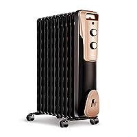 美的(Midea)取暖器/电暖器/电暖气片家用 节能省电 静音加湿烘衣 11片劲暖电热油汀NY2011-16JW(亚马逊自营商品, 由供应商配送)