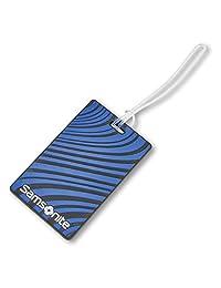 Samsonite Designer Luggage Id Tags, Blue Fantasy Stripe
