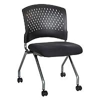 Office Star 豪华透气包裹式靠背折叠躺椅,煤灰色