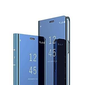"""EMAXELER Huawei Mate 20 Lite Case 7"""" 对开式 黑色. A: Blue"""