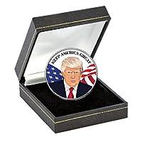美国硬币宝藏总统 Trump Coin Keep America Great | 正品 JFK 半美元 美国* 45 任总统印制 | 桌面装饰| 防伪证明书