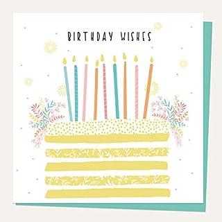 生日卡 - 夏季柔和颜色 - 层叠蛋糕