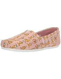 Skechers Bobs Plush Monday Moods 女士拖鞋。 Garfield 一脚蹬芭蕾平底鞋
