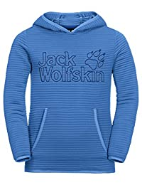 Jack Wolfskin 女童 Modesto 连帽衫轻质羊毛毛衣,蓝色